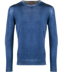 altea washed-effect fitted sweater - blue