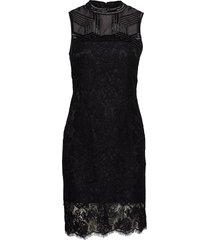 crimson lace emb. dress jurk knielengte zwart marciano by guess