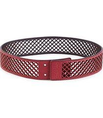 mesh leather belt