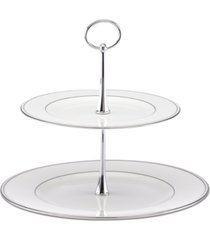lenox serveware, federal platinum 2 tier server