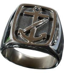 anel kodo acessórios âncora prata