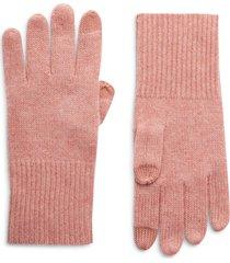 women's halogen cashmere tech gloves, size one size - pink