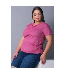 blusa camiseta t-shirt tecido sued urbania suede rose