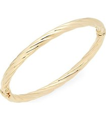 twisted 14k yellow gold bangle bracelet