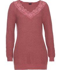 maglione con pizzo (viola) - bodyflirt