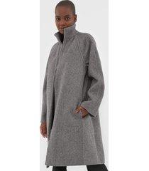 casaco lã lacoste sobretudo cotelê cinza - kanui