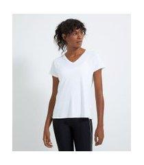 camiseta esportiva manga curta com recortes | get over | branco | gg