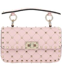 borsa donna a mano shopping in pelle rockstud small