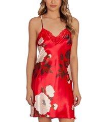 linea donatella floral-print satin chemise nightgown