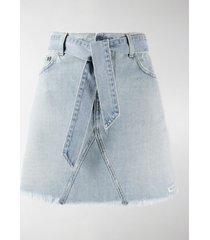 givenchy belted denim mini skirt