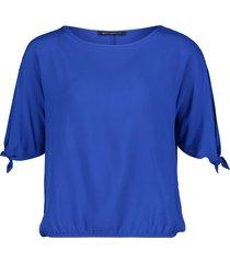 betty barclay - 60039797 - hoog blauwe bloes shirt