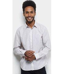camisa manga longa ellus listrada dobby striped 60 masculina