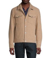 brunello cucinelli men's casual wool jacket - tan - size m