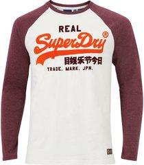 t-shirt vl duo raglan ls top