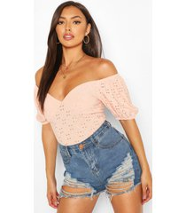 batwing off the shoulder top, nude