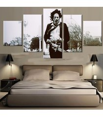 the texas chainsaw massacre movie 5 piece canvas art wall art picture home decor