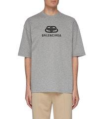 bb' logo print oversized t-shirt
