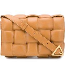 bottega veneta padded cassette crossbody bag - brown
