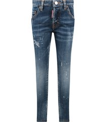 dsquared2 light blue skarter boy jeans with double dd