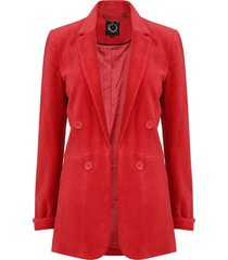 blazer io  liso rojo - calce regular