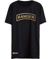 camiseta vinteseis army - ranger preta