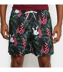 shorts mash estampado floral chique masculino