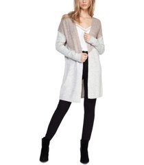 black tape colorblocked open-front cardigan, in regular & petite