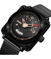 reloj hombre skmei 9172 negro de lujo