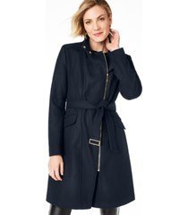 cole haan petite belted asymmetrical walker coat
