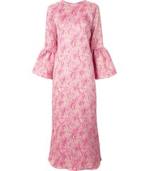 bambah camelia long kaftan dress - pink
