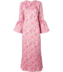 bambah camelia long kaftan dress - pink