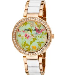 laura ashley ladies' white summer duck egg dial watch