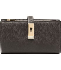 bally magnetic lock purse - brown