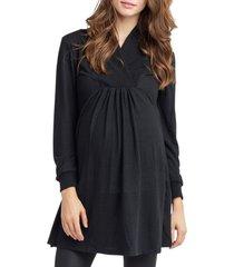 women's nom maternity tanya maternity tunic, size x-small - black