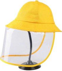 gorro con protector facial niños amarillo via franca