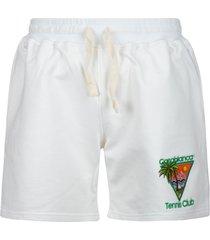 casablanca tennis club icon embroidered shorts