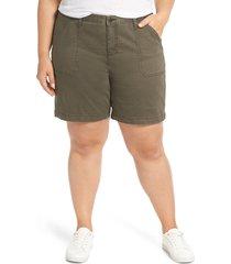 plus size women's caslon utility shorts
