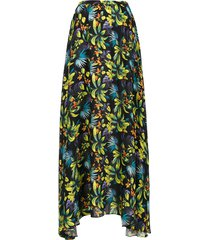 amir slama printed long skirt - green