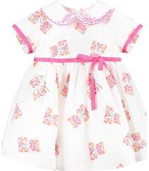 blumarine white dress for babygirl with bears