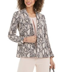 nine west snake-print one-button blazer