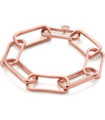 rose gold alta capture large link charm bracelet