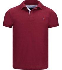 camiseta tipo polo vinotinto hamer bordada