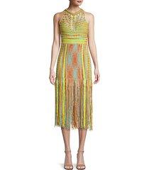 fringe sleeveless midi dress