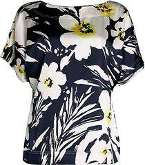 floral stretch-silk top