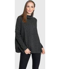 sweater privilege tejido gris - calce oversize