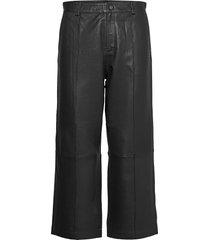 como leather pant leather leggings/broek zwart mos mosh