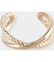 brooklynn cable ear cuff - gold