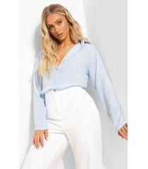 geweven blouse, pale blue