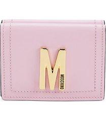 logo leather tri-fold wallet