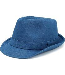 unisex cappello in denim con stile cowboy jazz
